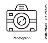 photograph icon vector isolated ... | Shutterstock .eps vector #1159985893