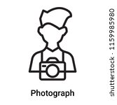 photograph icon vector isolated ... | Shutterstock .eps vector #1159985980