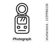 photograph icon vector isolated ... | Shutterstock .eps vector #1159986136