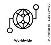worldwide icon vector isolated... | Shutterstock .eps vector #1159989490