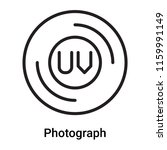 photograph icon vector isolated ... | Shutterstock .eps vector #1159991149