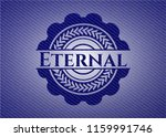 eternal badge with jean texture | Shutterstock .eps vector #1159991746
