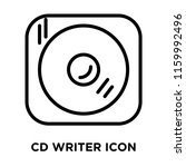 cd writer icon vector isolated... | Shutterstock .eps vector #1159992496