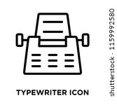 typewriter icon vector isolated ... | Shutterstock .eps vector #1159992580