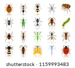 danger insect flat icons set.... | Shutterstock .eps vector #1159993483