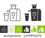 juicer black linear and... | Shutterstock .eps vector #1159993570