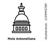 mole antonelliana in turin icon ...   Shutterstock .eps vector #1159993789