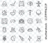 set of 25 transparent icons... | Shutterstock .eps vector #1159996219