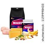 fitness sport muscle mass...   Shutterstock .eps vector #1159998433
