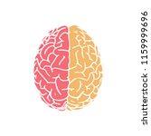 hemispheres brain in top view... | Shutterstock .eps vector #1159999696