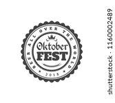 oktoberfest celebration. beer... | Shutterstock .eps vector #1160002489