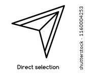 direct selection icon vector... | Shutterstock .eps vector #1160004253