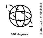 360 degrees icon vector... | Shutterstock .eps vector #1160005843
