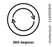 360 degrees icon vector... | Shutterstock .eps vector #1160005849