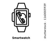 smartwatch icon vector isolated ... | Shutterstock .eps vector #1160005939