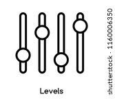 levels icon vector isolated on...