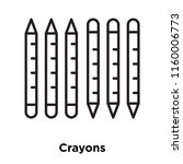 crayons icon vector isolated on ...   Shutterstock .eps vector #1160006773