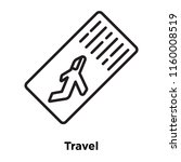 travel icon vector isolated on...
