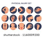 human body physical injury... | Shutterstock .eps vector #1160009200