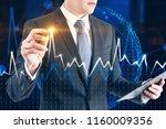 unrecognizable businessman... | Shutterstock . vector #1160009356