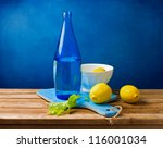 Still Life With Lemons And Blu...
