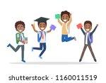 set of cute little jumping... | Shutterstock .eps vector #1160011519