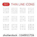 set of thin line icons... | Shutterstock .eps vector #1160011726