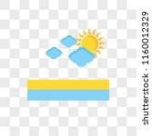 cloudy vector icon isolated on... | Shutterstock .eps vector #1160012329