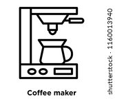 coffee maker icon vector... | Shutterstock .eps vector #1160013940