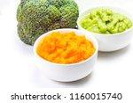 vegetable puree  carrots ...   Shutterstock . vector #1160015740