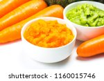 vegetable puree  carrots ...   Shutterstock . vector #1160015746