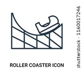 roller coaster icon vector... | Shutterstock .eps vector #1160017246
