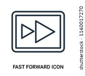fast forward icon vector... | Shutterstock .eps vector #1160017270