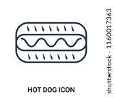 hot dog icon vector isolated on ... | Shutterstock .eps vector #1160017363