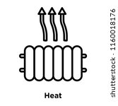 heat icon vector isolated on...   Shutterstock .eps vector #1160018176