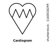 cardiogram icon vector isolated ... | Shutterstock .eps vector #1160018299