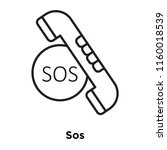 sos icon vector isolated on... | Shutterstock .eps vector #1160018539