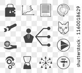 set of 13 transparent icons... | Shutterstock .eps vector #1160018629