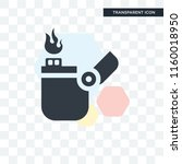 lighter vector icon isolated on ... | Shutterstock .eps vector #1160018950