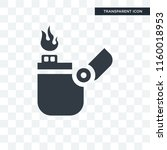 lighter vector icon isolated on ... | Shutterstock .eps vector #1160018953