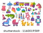 collection of toys for child... | Shutterstock .eps vector #1160019589