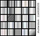 set of silver gradients.... | Shutterstock .eps vector #1160020153
