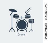 drums icon logo element.... | Shutterstock .eps vector #1160020693