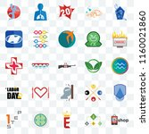 set of 25 transparent icons... | Shutterstock .eps vector #1160021860