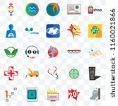 set of 25 transparent icons... | Shutterstock .eps vector #1160021866