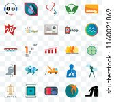 set of 25 transparent icons... | Shutterstock .eps vector #1160021869