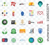 set of 25 transparent icons... | Shutterstock .eps vector #1160022079