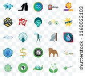 set of 25 transparent icons... | Shutterstock .eps vector #1160022103