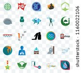 set of 25 transparent icons... | Shutterstock .eps vector #1160022106