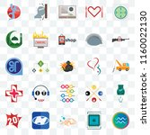 set of 25 transparent icons... | Shutterstock .eps vector #1160022130